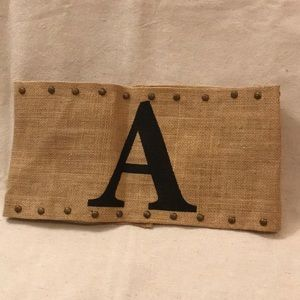 "Mud Pie Monogrammed Pillow Wrap : Letter ""A"""